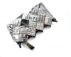 SMALL COIN PURSE NEWSPAPER