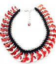 Red Pop tabs necklace